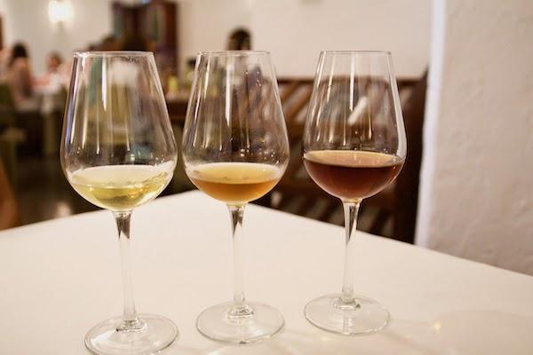 Tres variedades diferentes de vino de jerez