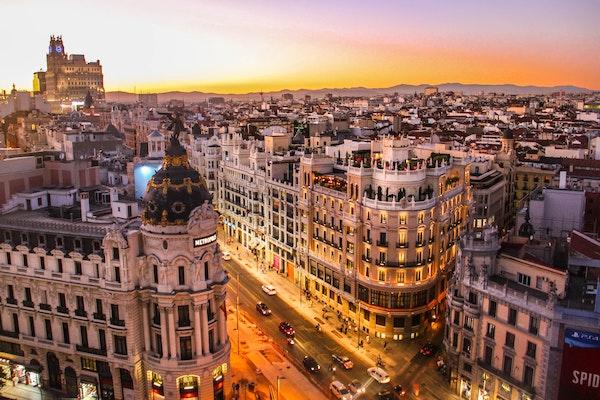 Vista desde la azotea del Círculo de Bellas Artes de Madrid.