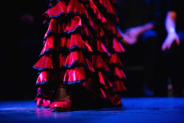 Falda de bailarina de flamenco