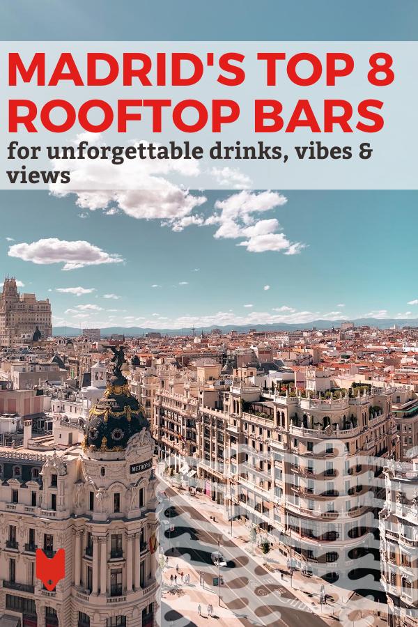 Lista de los mejores bares en azoteas de Madrid