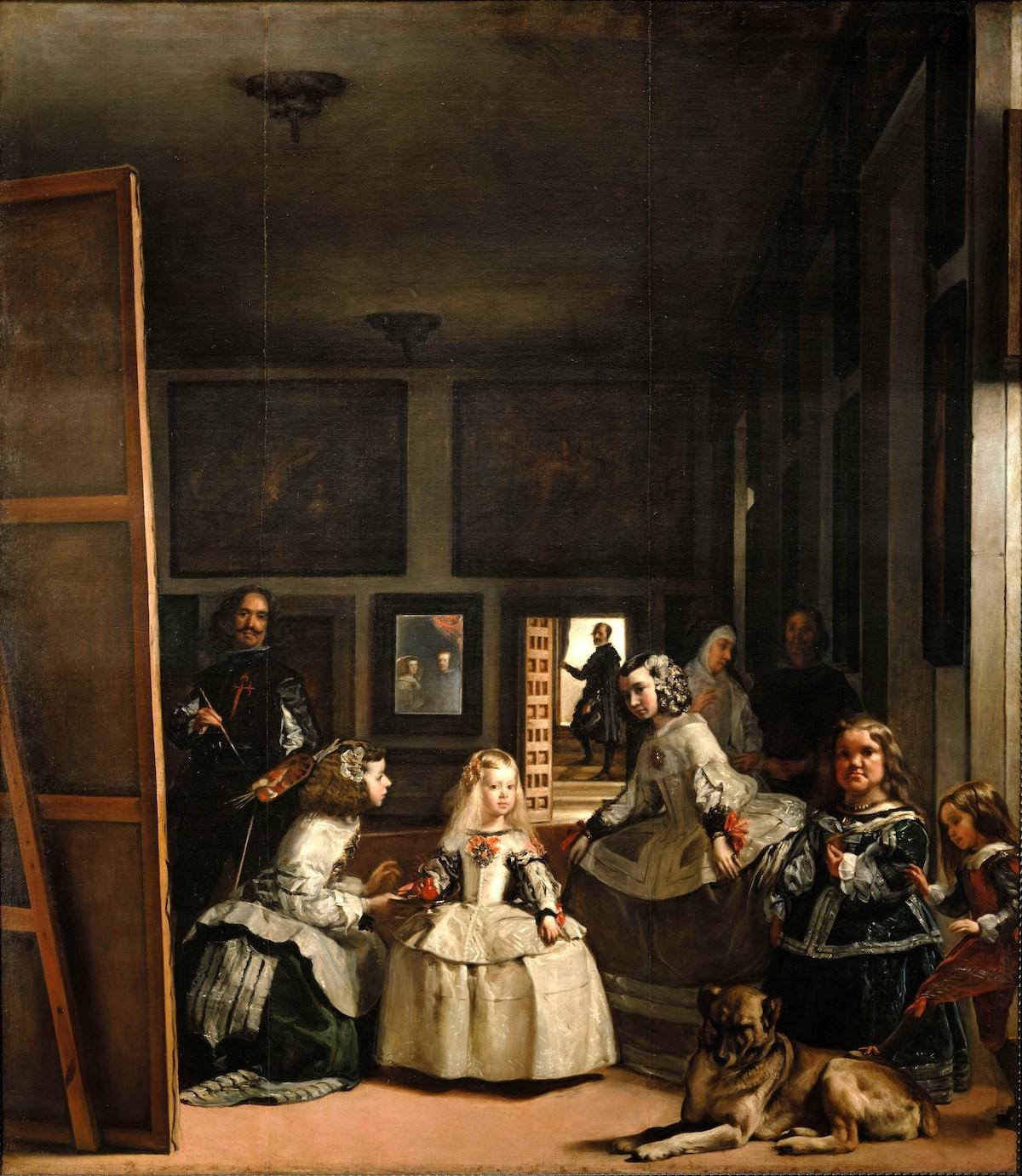 Las Meninas, óleo sobre lienzo de Diego Velázquez, que representa a la familia real española en el siglo XVII.